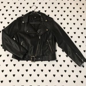 H&M faux leather motorcycle jacket